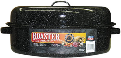 "18"" BLK Oval Roaster"