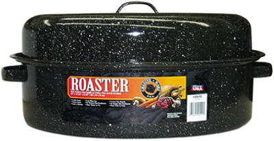 "19"" BLK Oval Roaster"