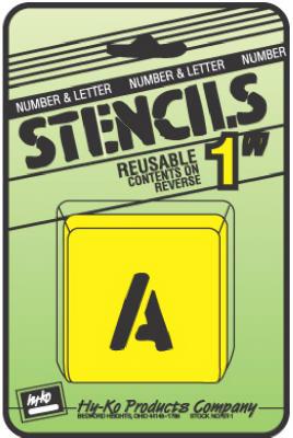 """1"""" Lett/Num Stencil Set"""