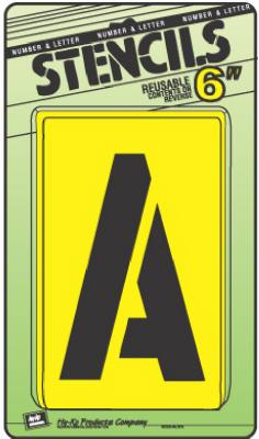 """6"""" LTR/Num Stencil Set"""