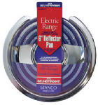 "STANCO METAL PROD 501-6 6"", Chrome Reflector Pan For Stoves, Fits Most GE Stoves"