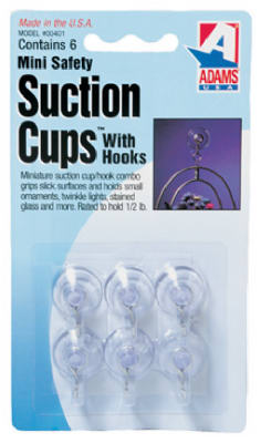 6PK Mini Suction Cup - Woods Hardware