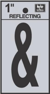 "1"" BLK Refl & Sign"