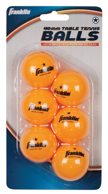 6PK Table Tennis Balls