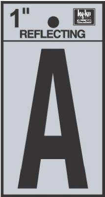 "1"" BLK Refl Letter A"