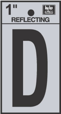 "1"" BLK Refl Letter D"