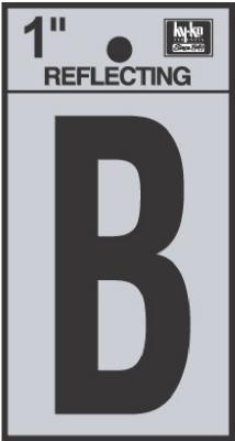 "1"" BLK Refl Letter B"