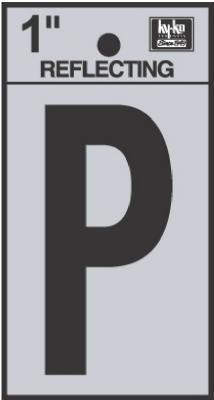 """1"""" BLK Refl Letter P"""