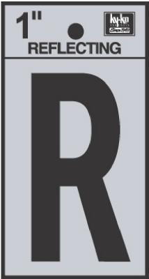 "1"" BLK Refl Letter R"