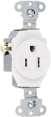 15A WHT HD SGL Outlet