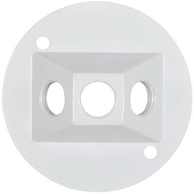 WHT WP RND Lamp Cover