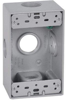 GRY WP 1G Outlet Box