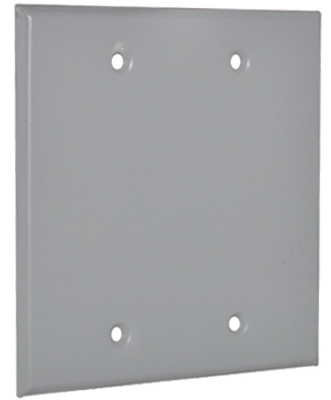 ME GRY WP 2G BLNK Cover - Woods Hardware