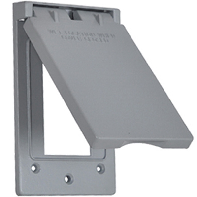 ME GRY Vert GFI Cover - Woods Hardware