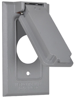 ME GRY WP Flip Cover - Woods Hardware