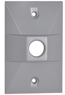 GRY WP Rect Lamp Cover