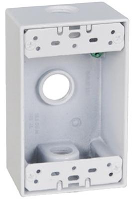WHT WP 1G Outlet Box