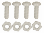 CUSTOM ACCESSORIES 93332 4 Pack, License Plate Fastener, Durable All Weather Nylon, Will