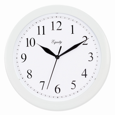 "10"" WHT Plas Wall Clock"