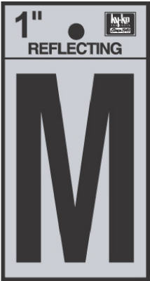 "1"" BLK Refl Letter M"