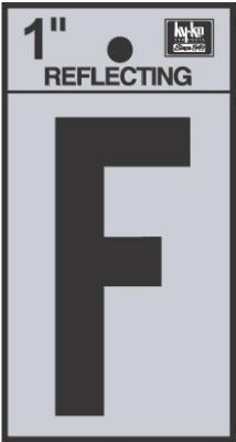 "1"" BLK Refl Letter F"