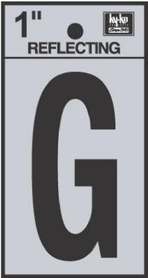 "1"" BLK Refl Letter G"