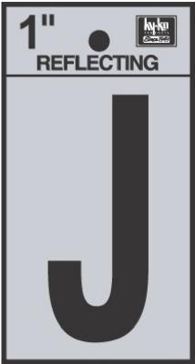 "1"" BLK Refl Letter J"