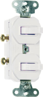 15A WHT 2SP UL Switches - Woods Hardware