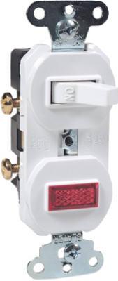 15A WHT PilotLGT/Switch - Woods Hardware