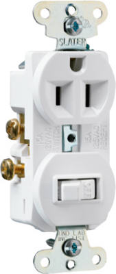 15A WHT Switch/Outlet - Woods Hardware
