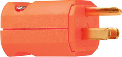 15A ORG HiVis Plug - Woods Hardware