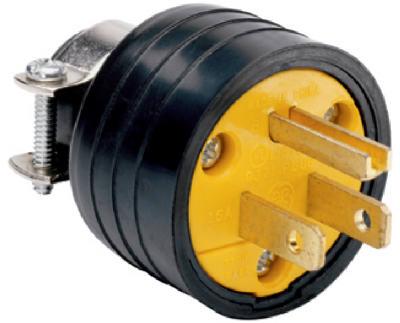 15A BLK Resid HD Plug