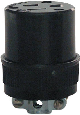 15A BLK Resid Connector - Woods Hardware