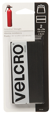 2PK2x4 BLK Velcro Strip
