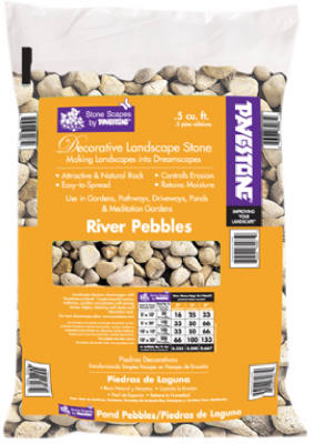 .5CUFT River Pebbles
