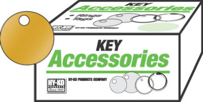 100PK 1-3/8 BRS Key Tag