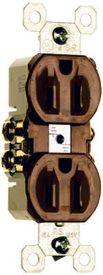 15A BRN STD DPLX Outlet
