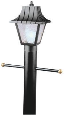 "8"" BLK Post Top Lantern"