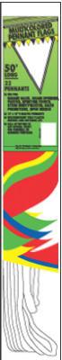 50 12x18 Pennant Flag
