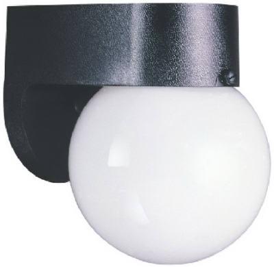 "6"" BLK Wall Lantern"