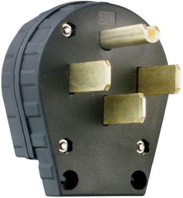 30/50A BLK Range Plug - Woods Hardware