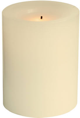 "4"" Cream BO RND Candle"