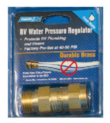 camco brass water pressure regulator keeps water. Black Bedroom Furniture Sets. Home Design Ideas