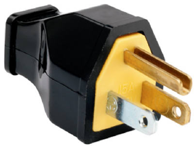15A BLK Thermop HD Plug - Woods Hardware