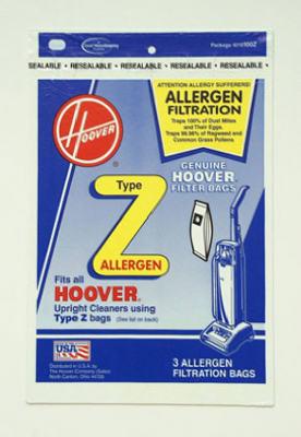 3PK Hoover Z Allerg Bag