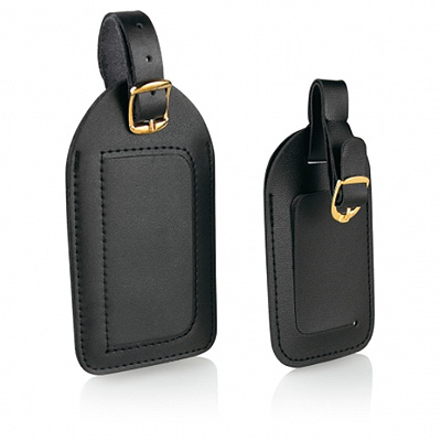 2PK BLK Luggage Tag