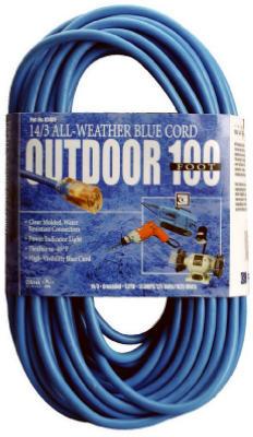 100 14/3 BLU EXT Cord
