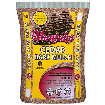 2CUFT Cedar Bark Mulch - Woods Hardware