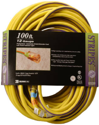 100 12/3 YEL EXT Cord