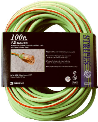 100 12/3 GRN EXT Cord
